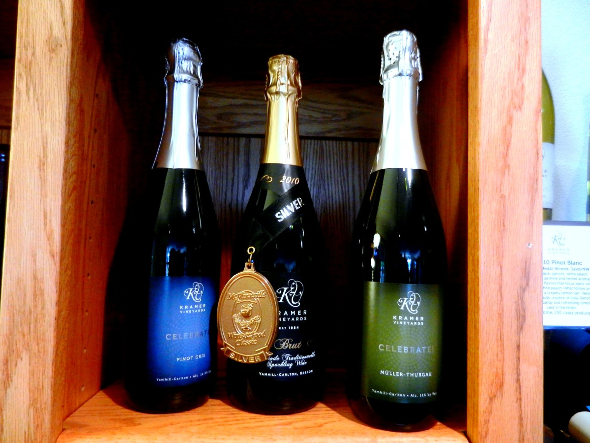 Kramer's sparkling wines are award-winning.