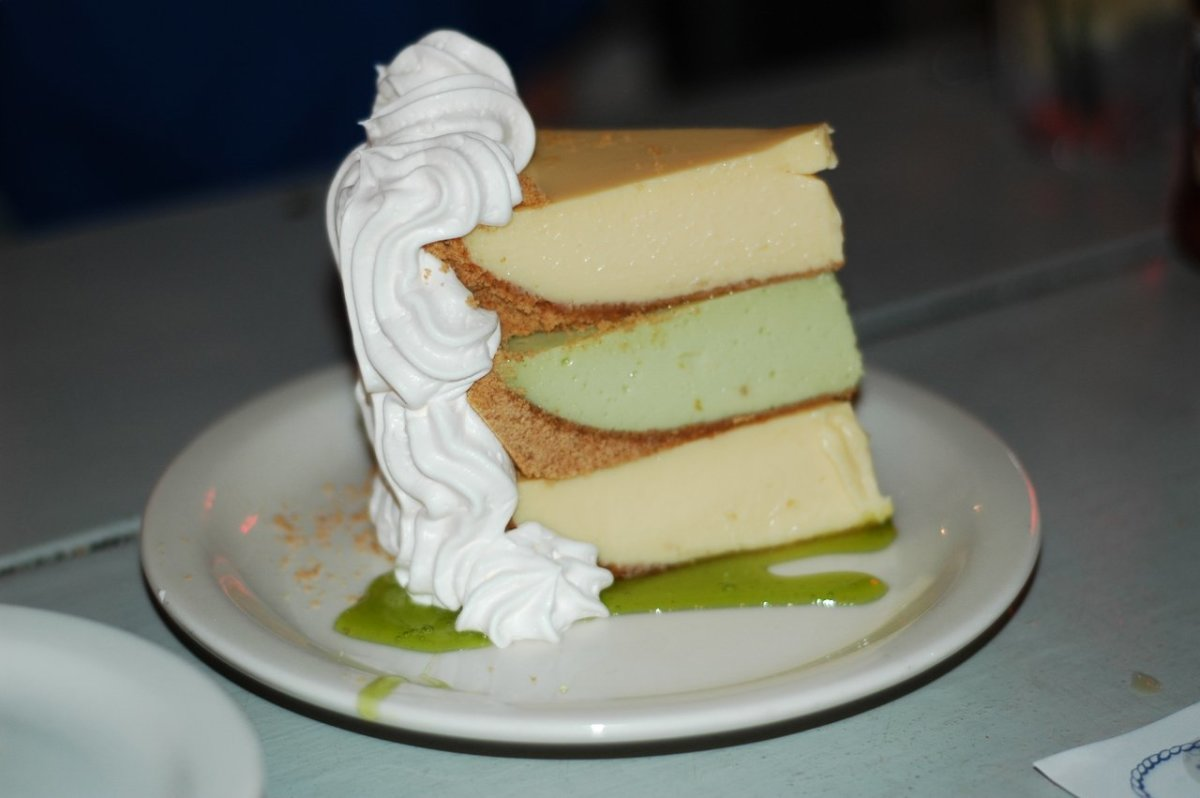 Flounder's famous triple-decker key lime pie!