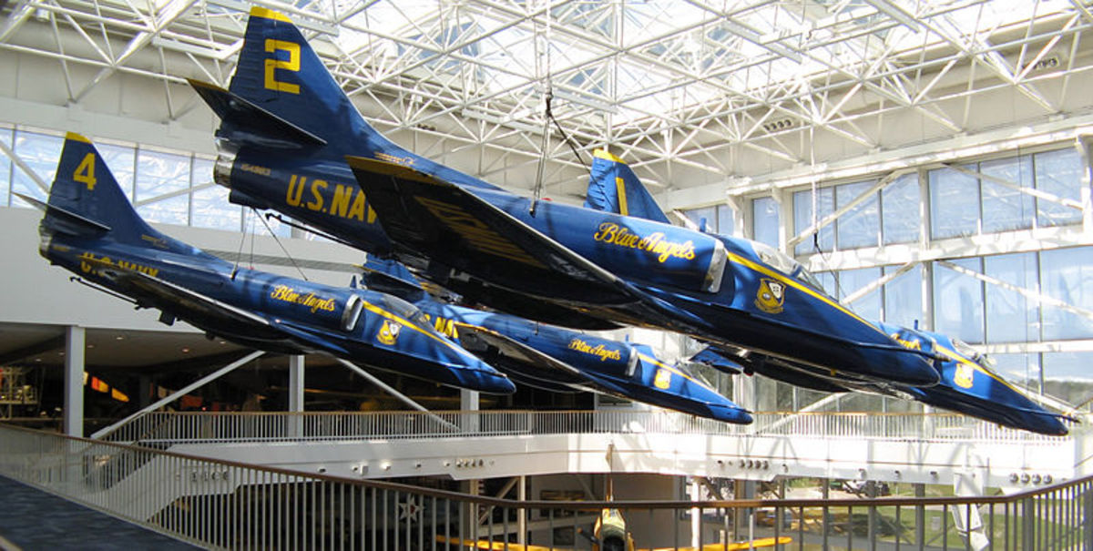 Pensacola's NAS is home to the flying Blue Angels. Here are some of the Blue Angels airplanes on display.