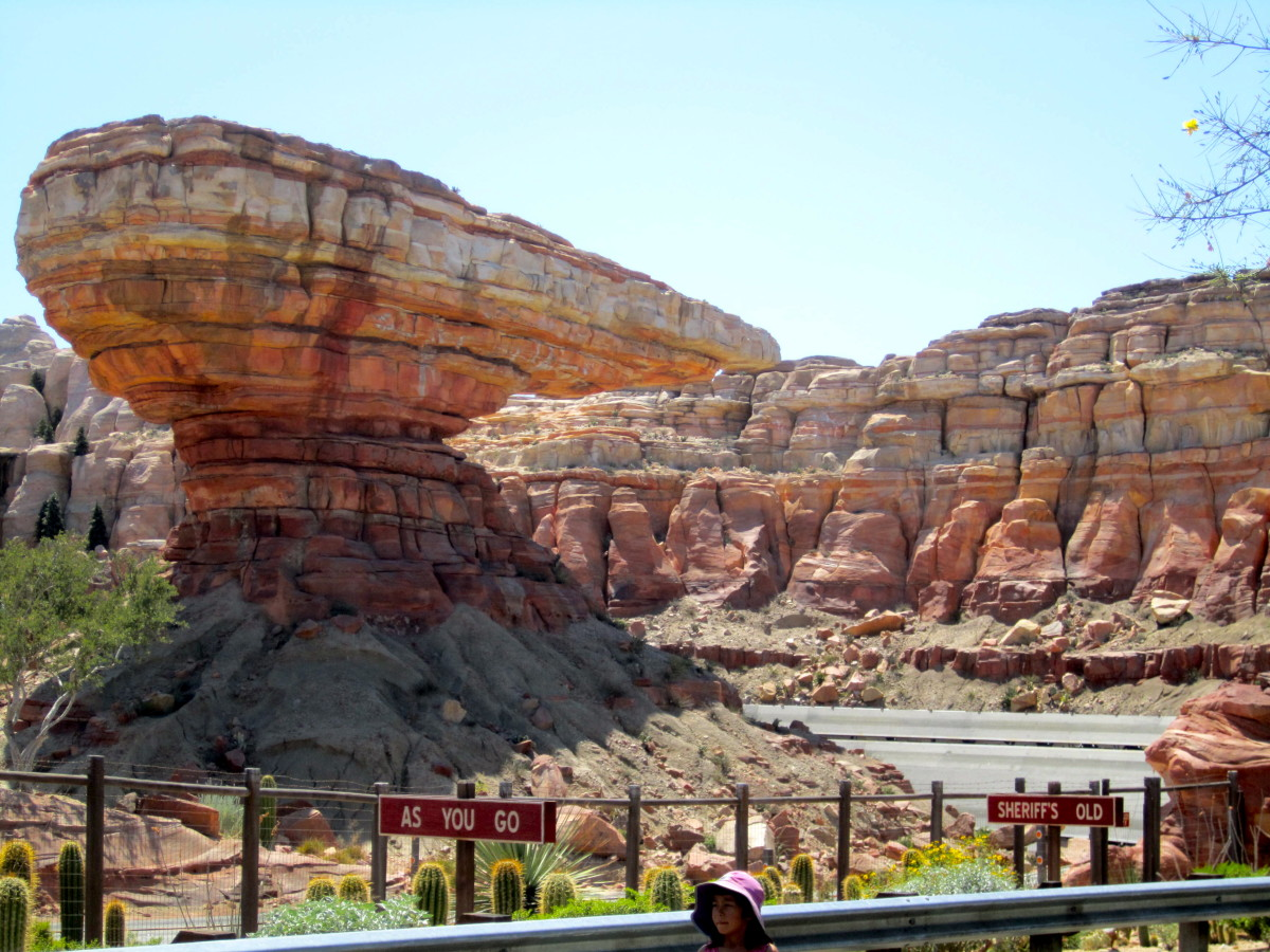 You can walk along a scenic route next to Radiator Spring Racers!