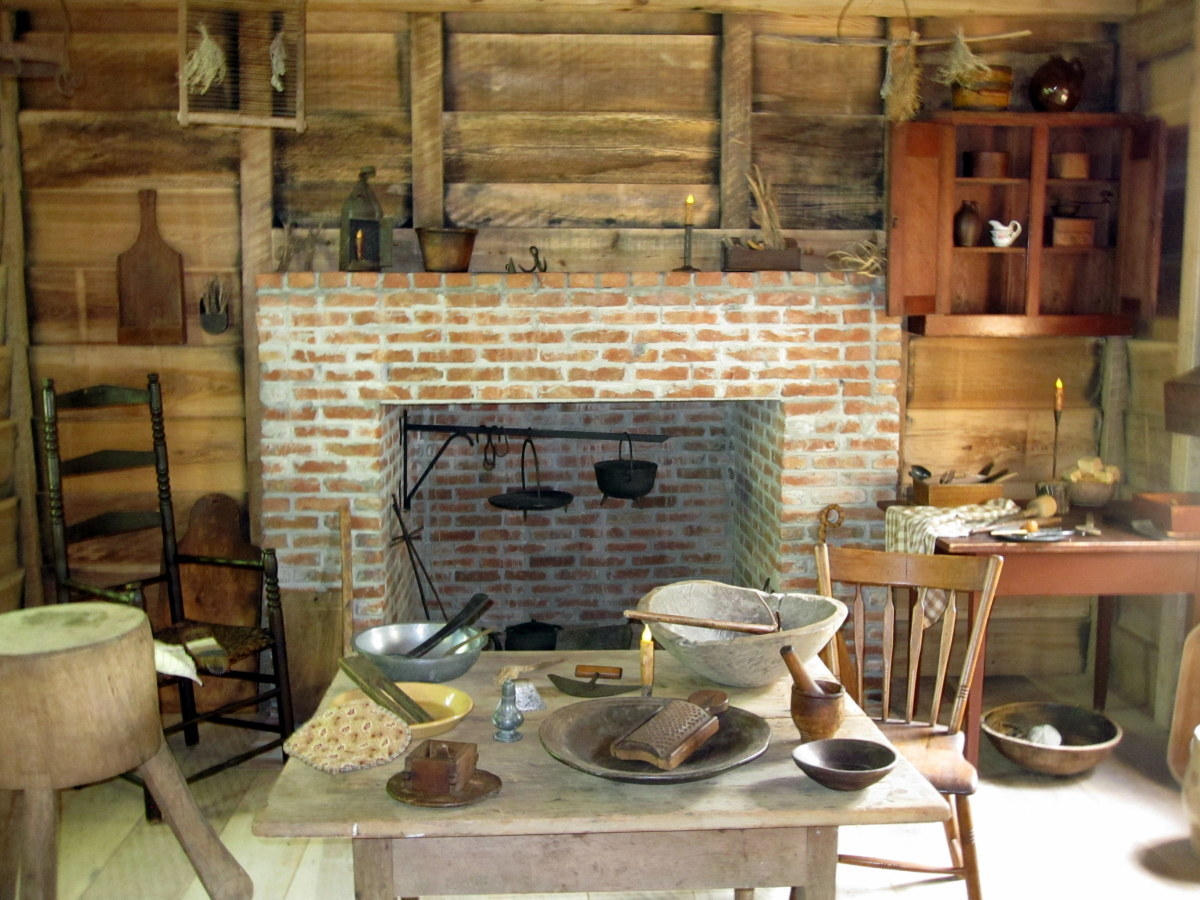 Inside the cook house
