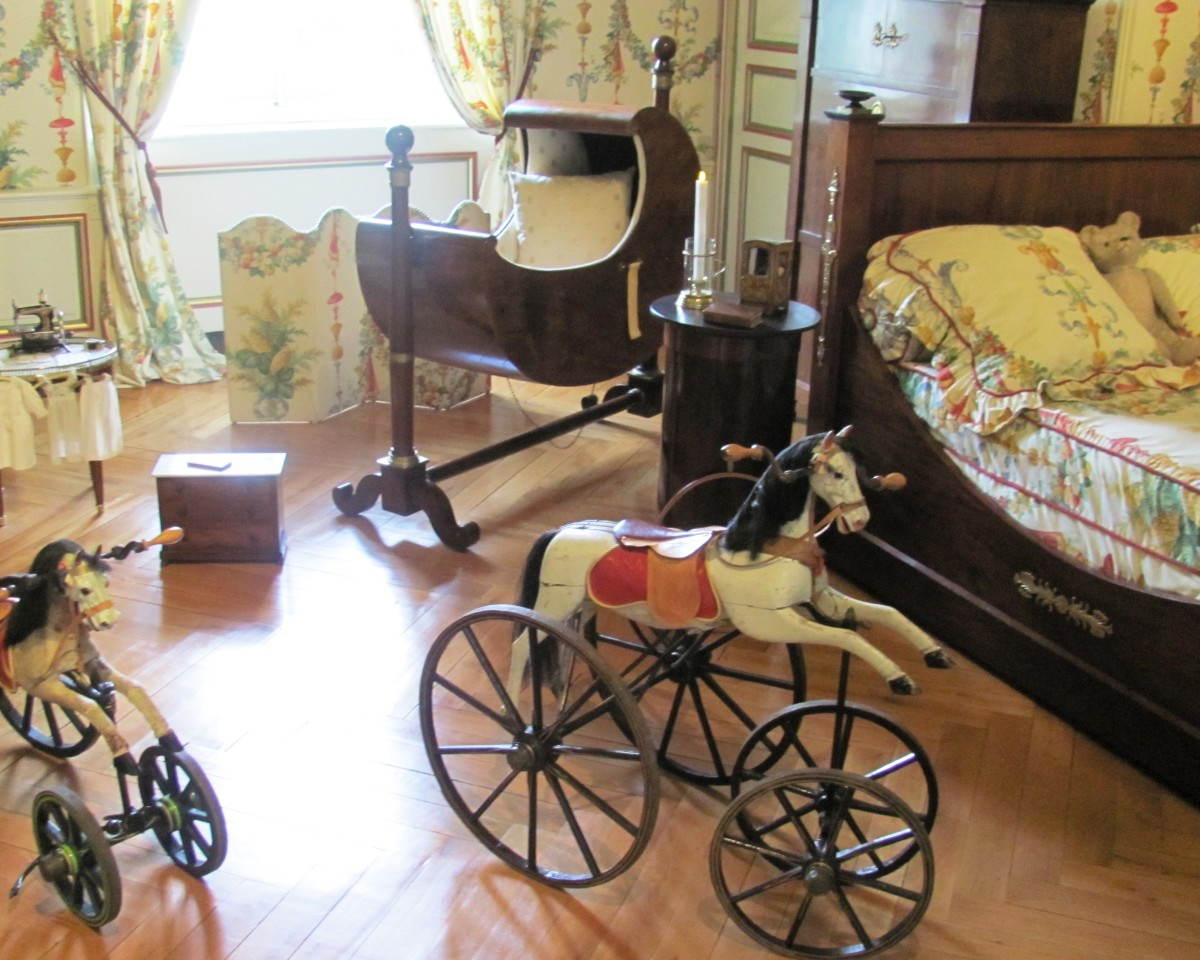 The first rocking horses from the time of Napoleon III can be found in the Nursery.
