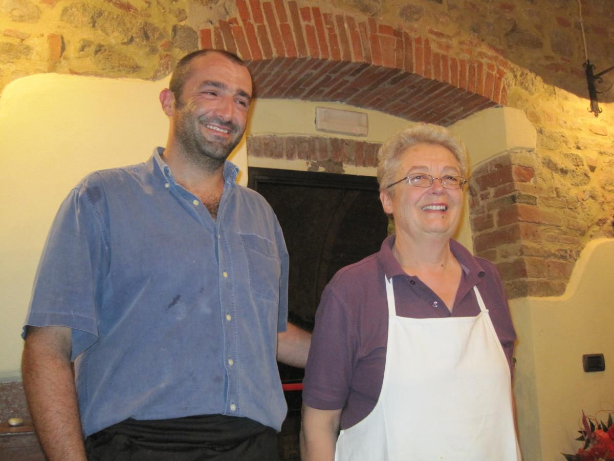 Hosts Giacomo and Ornella Martinelli