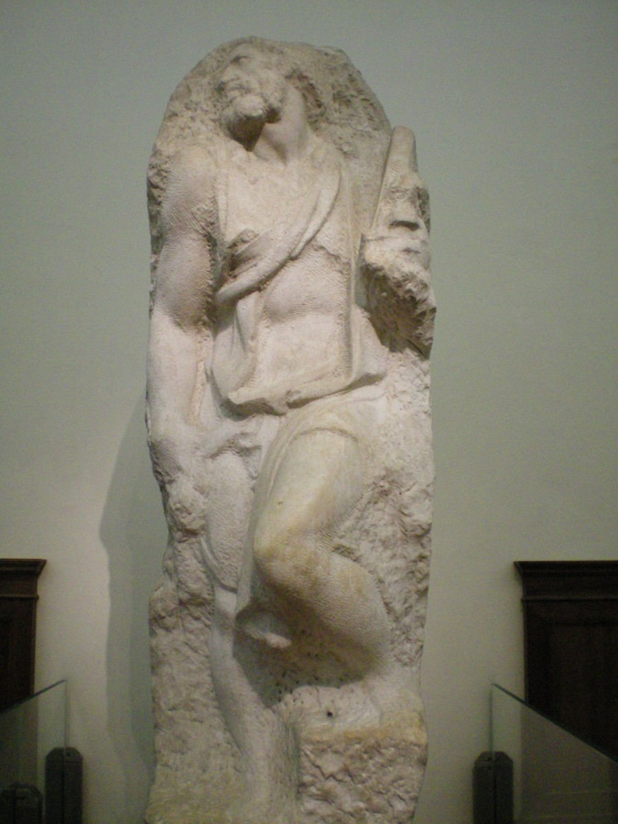 An unfinished slave for Julius II's tomb