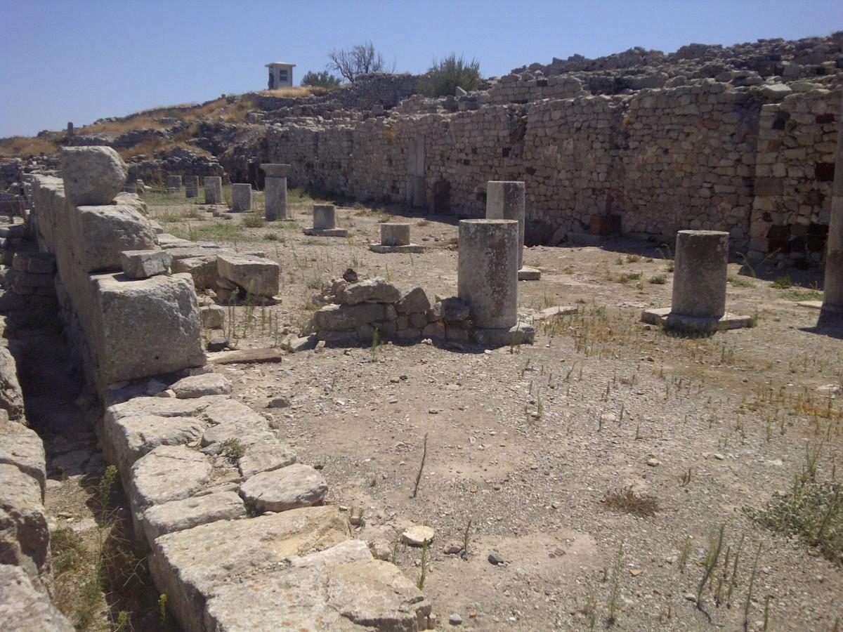 The Agora of Ancient Thira.