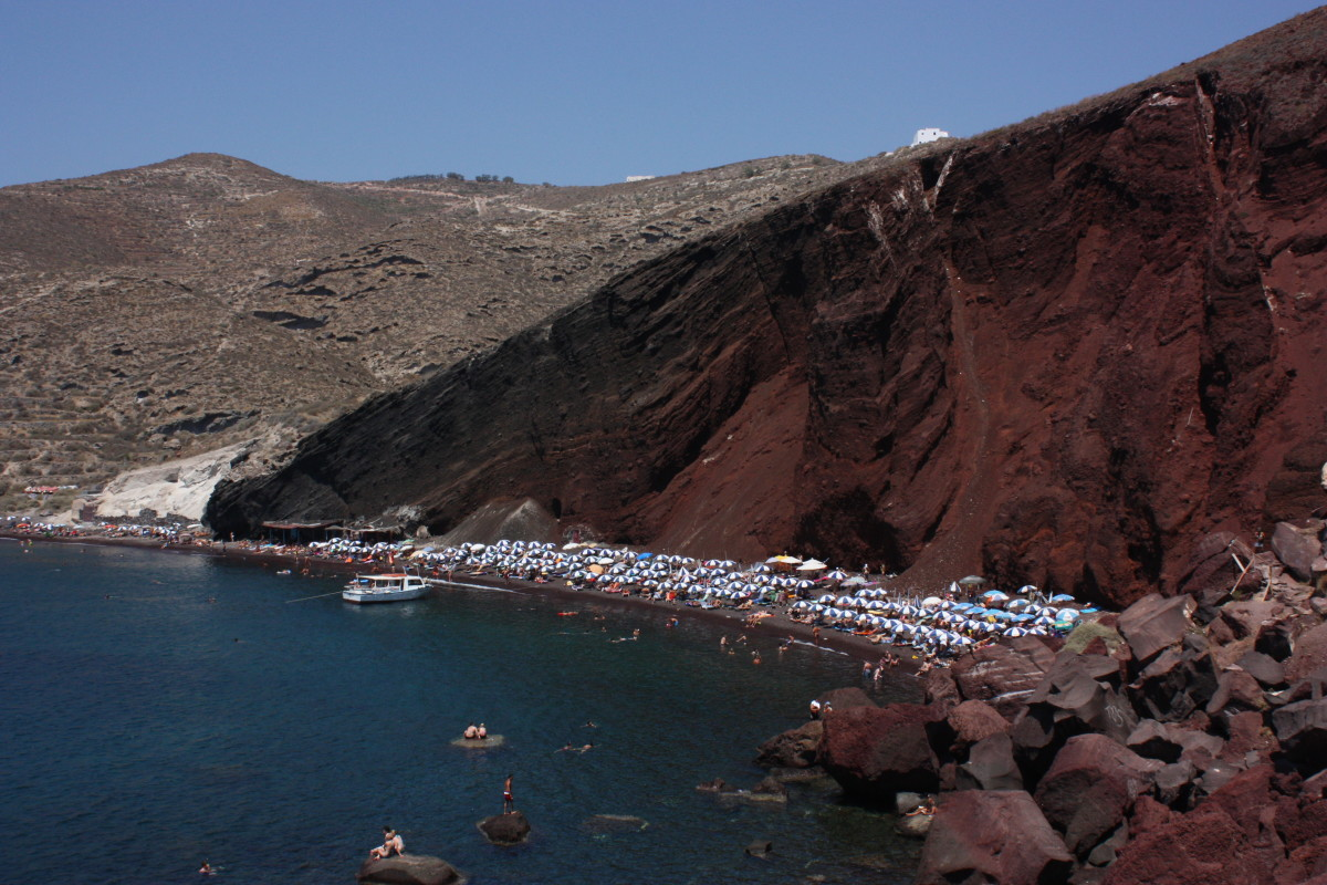 The Red Beach of Santorini