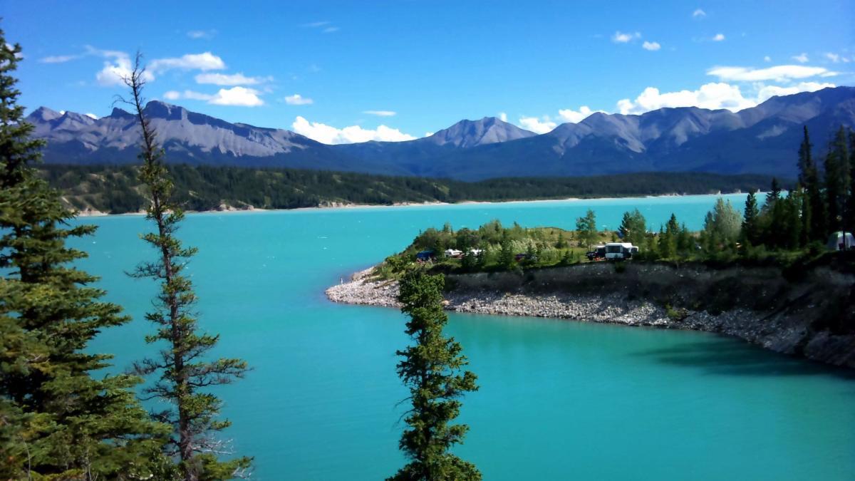 Lake Abraham during summer