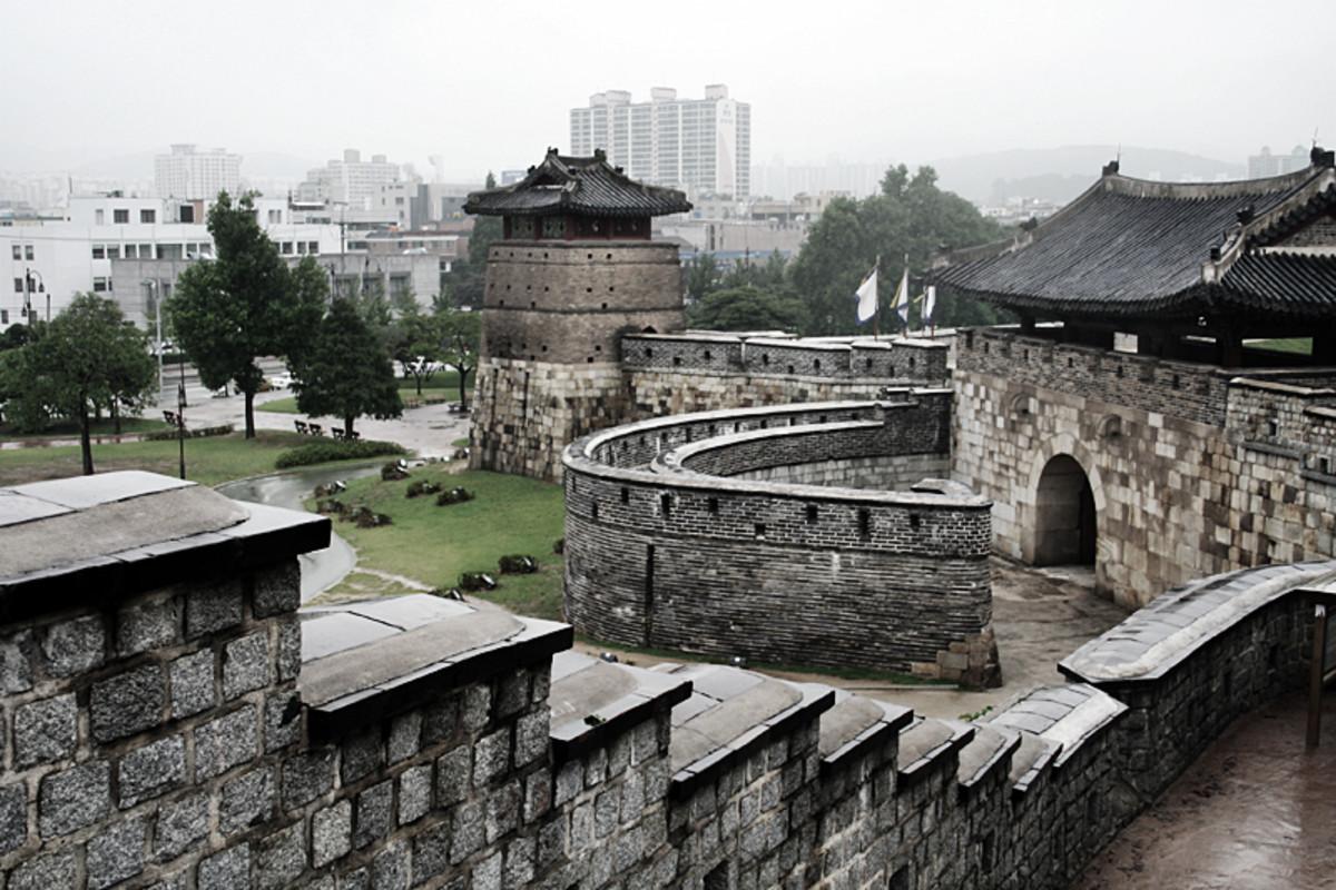 Suwon. Hwaseong Fortress.