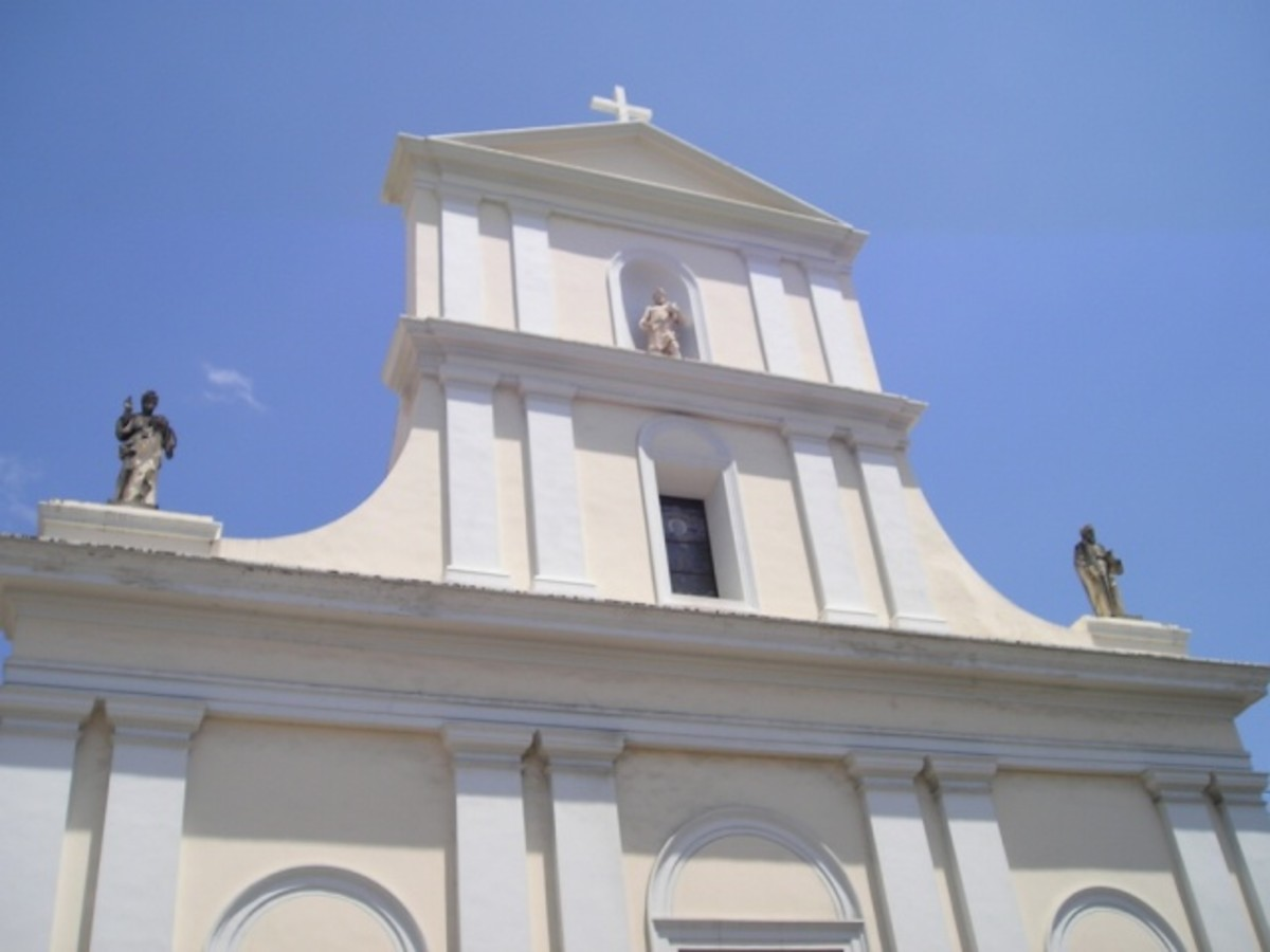 Cathedral of San Juan Bautista, located in old San Juan-contains the tomb of Ponce de Leon