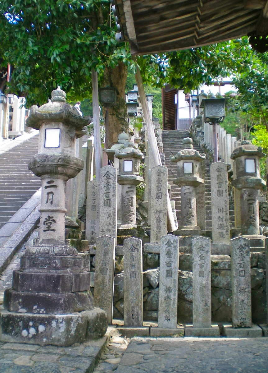 Lanterns lining the path to the Grand shrine (c) A Harrison