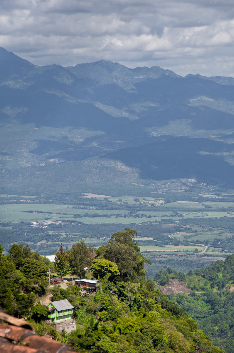View of Cantarranas Valley from La Tigra, above San Juancito.