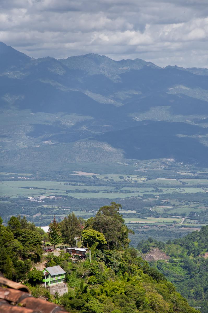 View of Cantarranas Valley from La Tigra, above San Juancito.