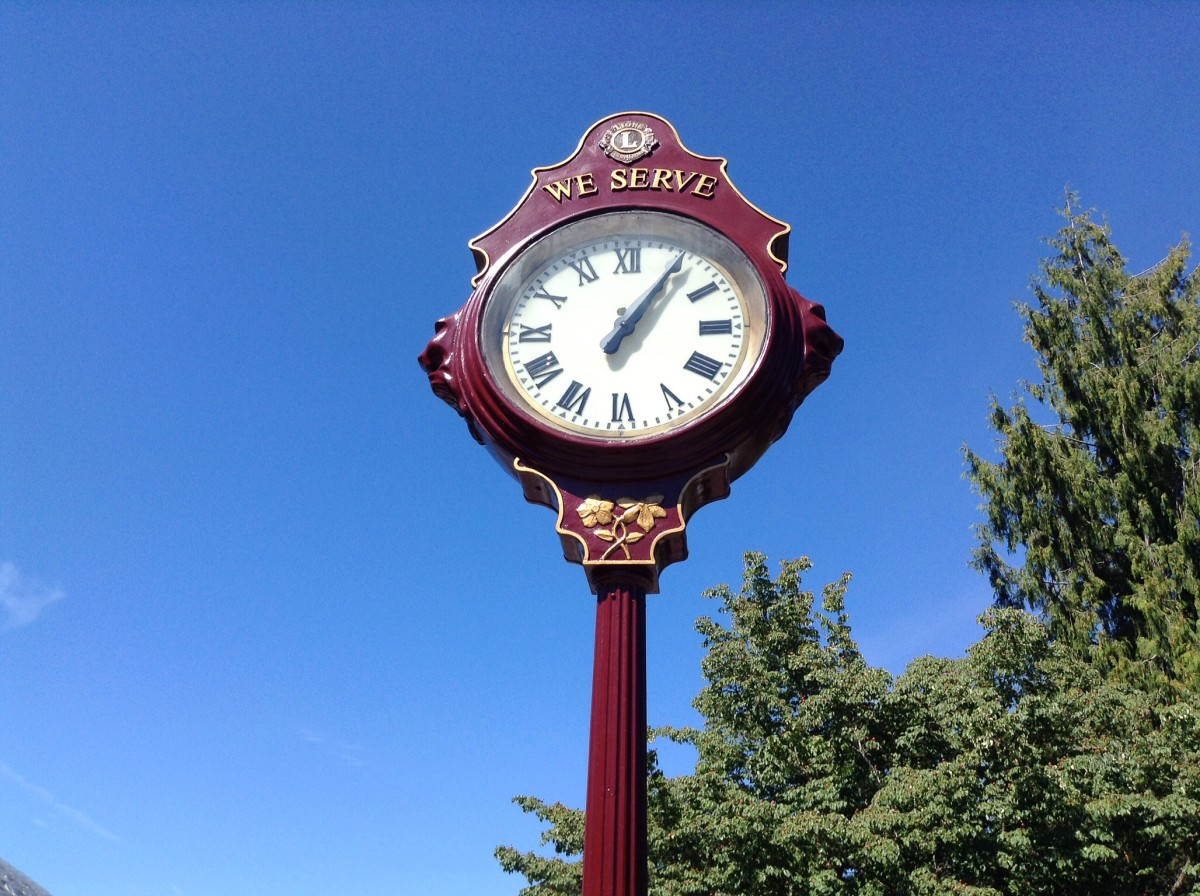 The Lions clock in Queen Elizabeth Park