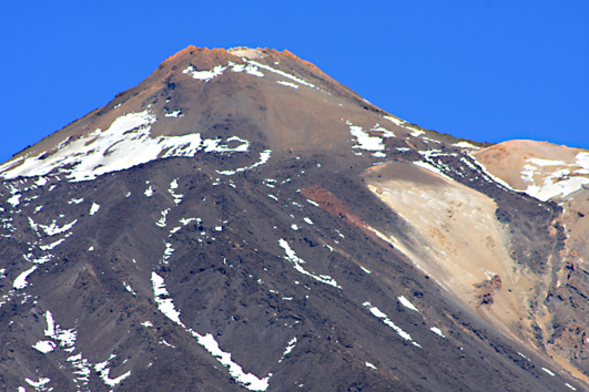 The eastern face of Mount Teide - the tallest mountain on Tenerife at 3,718 m