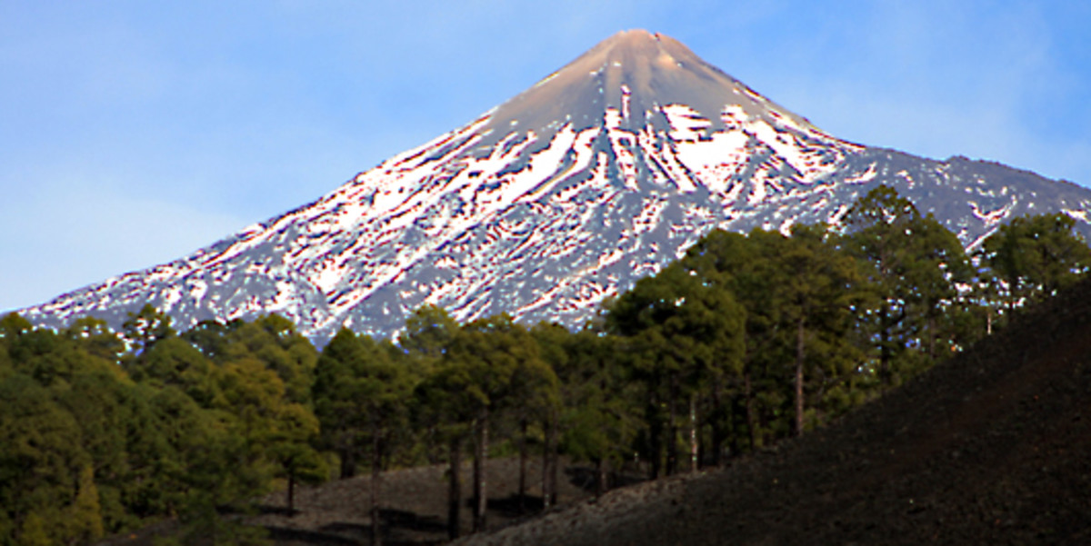 The western face of Teide, photographed from El Chinyero