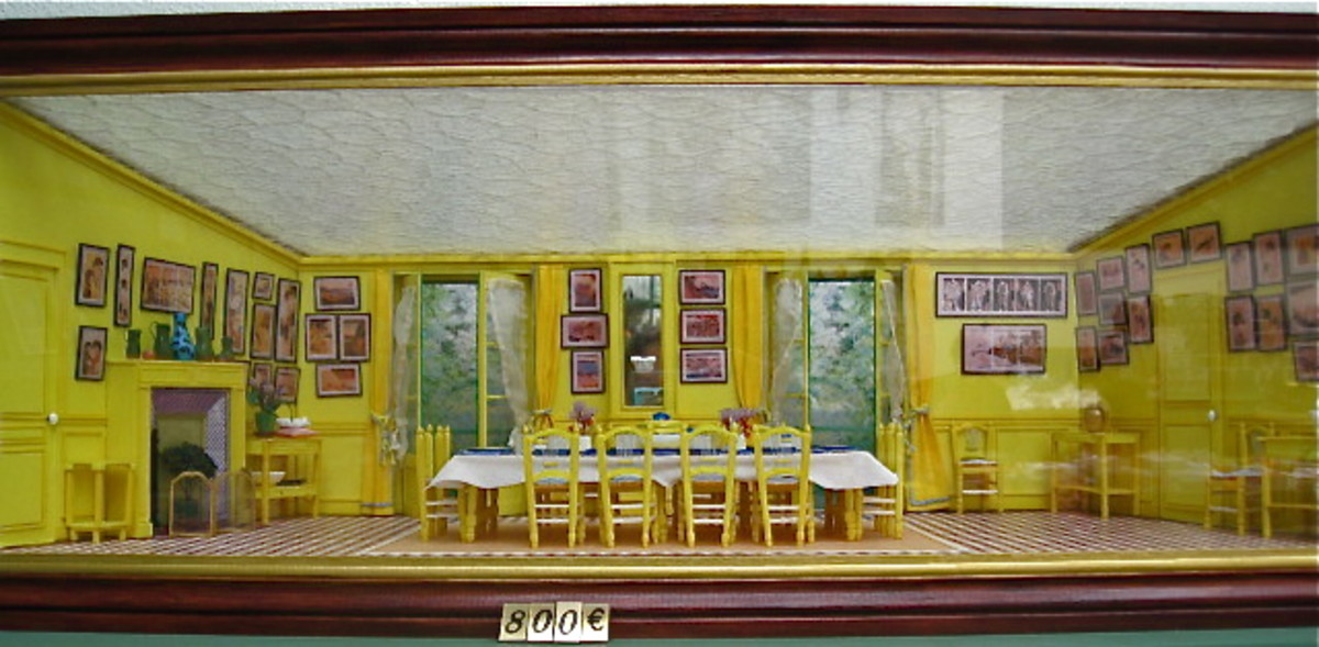 Model Replica of Monet's Dining Room