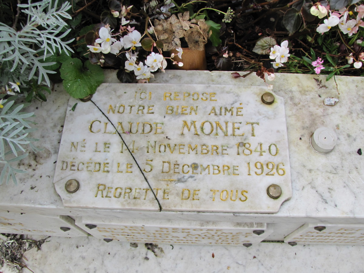 Claude Monet Grave located in the village cemetery
