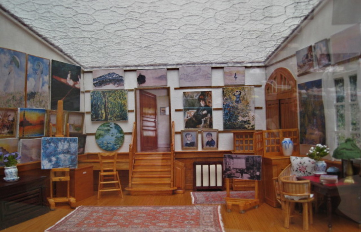 Replica Model of Monet's Studio