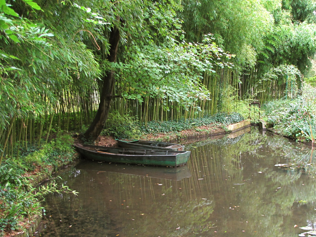 Monet's Row Boat in the Water Garden