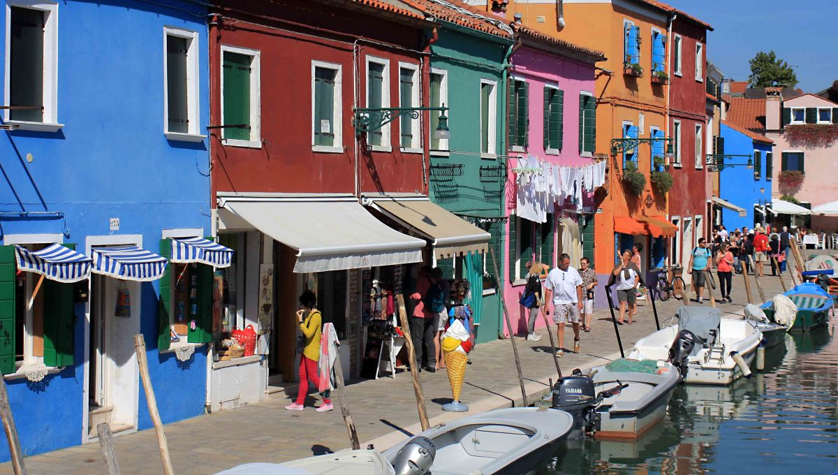 One of the main 'streets' on the island of Burano