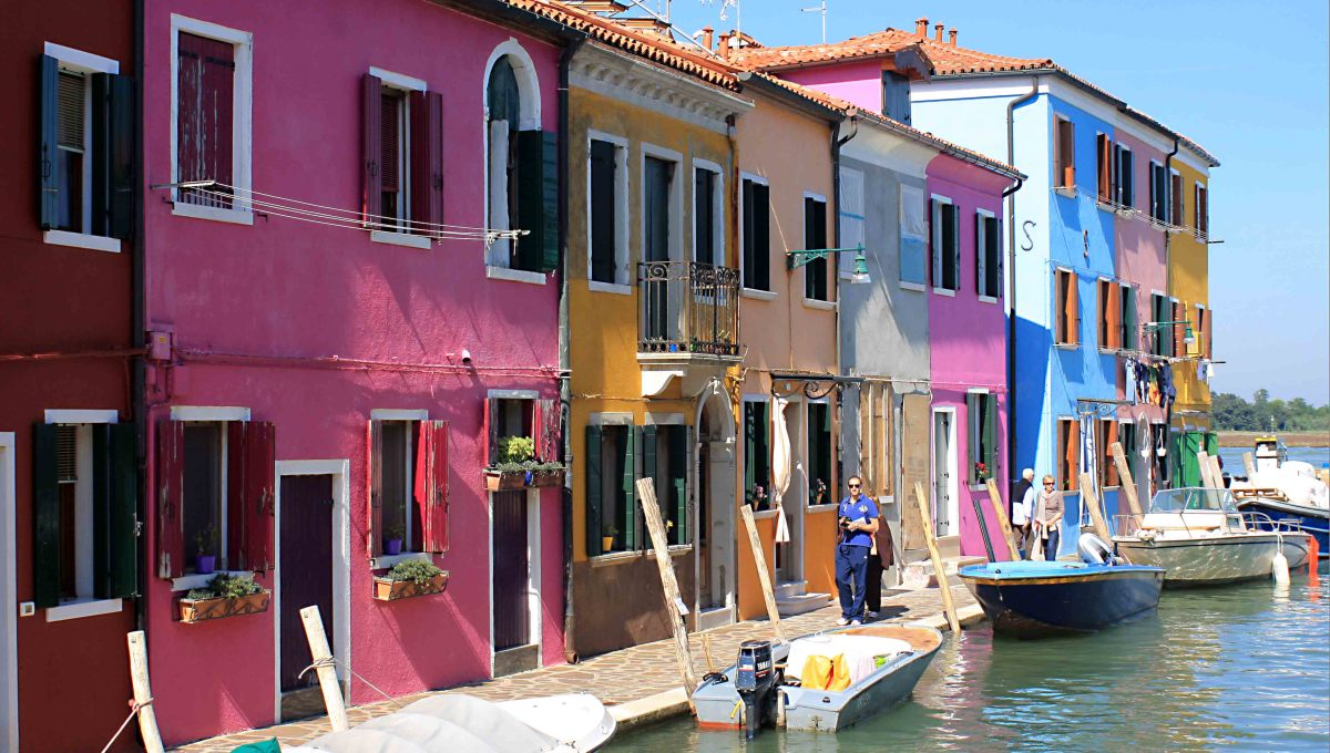The houses of Burano may look like something out of ToyTown, or maybe a paint manufacturer's catalogue, but they make this little island town one of the prettiest on Earth