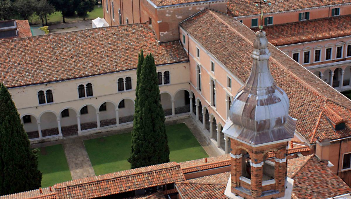 The monastery of San Giorgio Maggiore. There are actually a few guest rooms set aside in the monastery for those tourists who yearn for a rather more spiritual visit to Venice