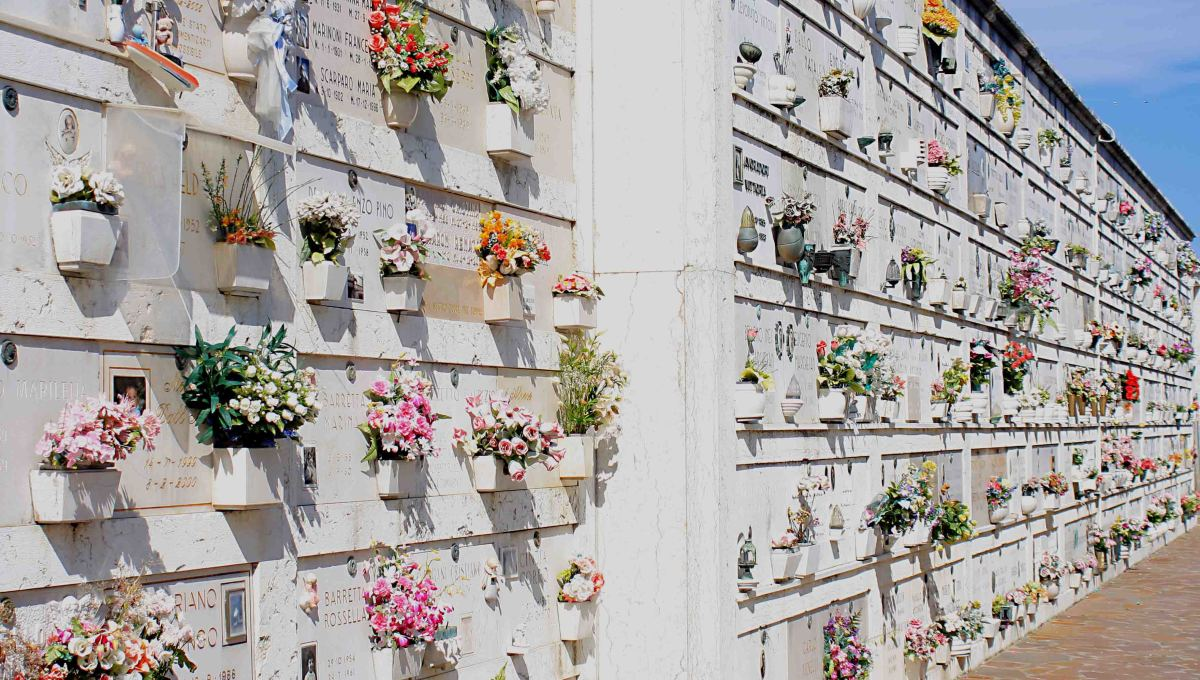 The Ossuary. Reading the inscriptions and tributes to loved ones can be a moving experience. Many of these have accompanying photographs which are poignant to see