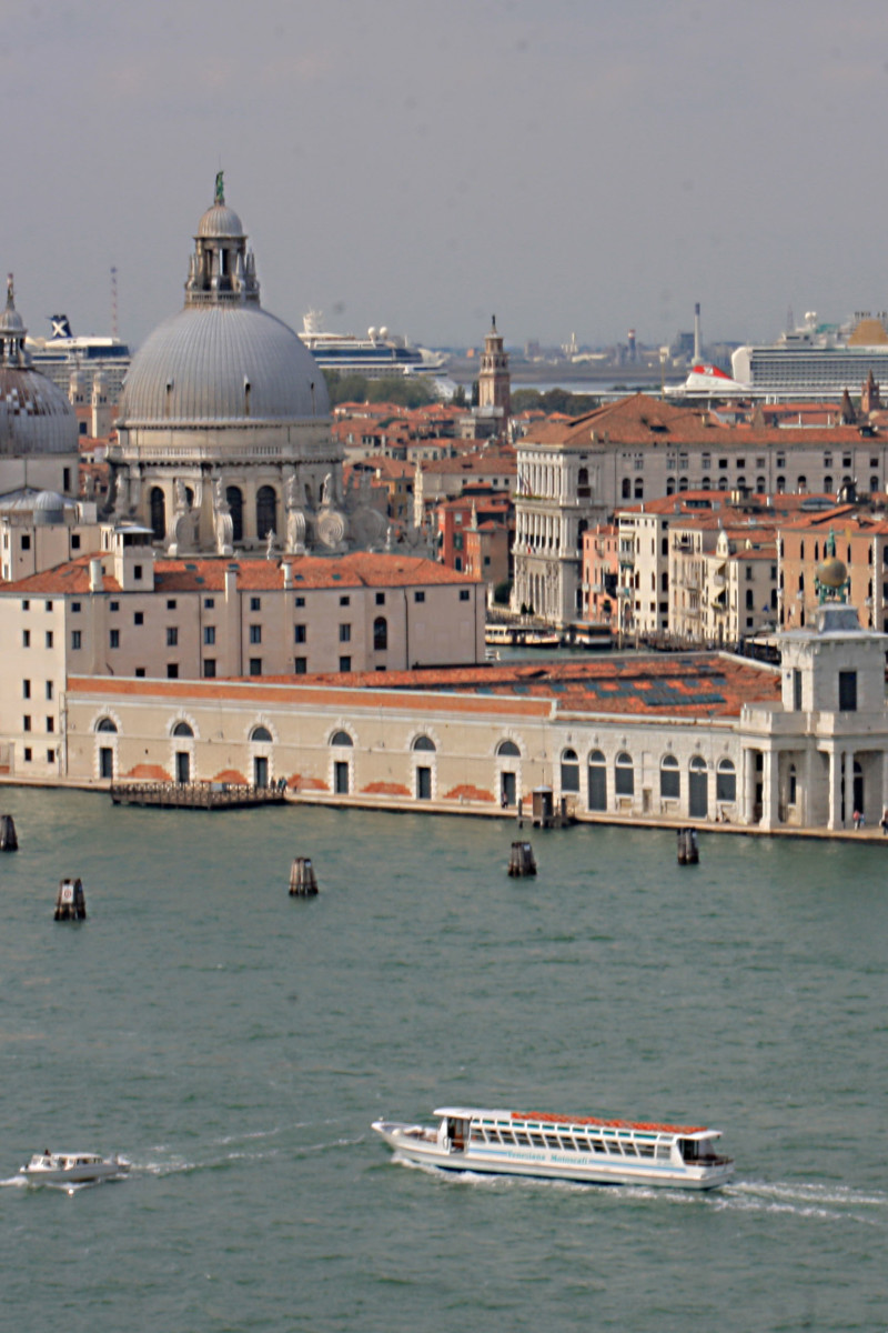 The City of Venice featuring the domed church of Santa Maria della Salute, as photographed from San Georgio Maggiore