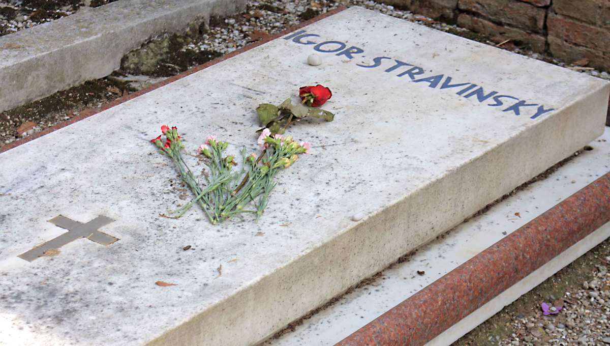Igor Stravinsky actually died in New York, but the composer requested to be buried here
