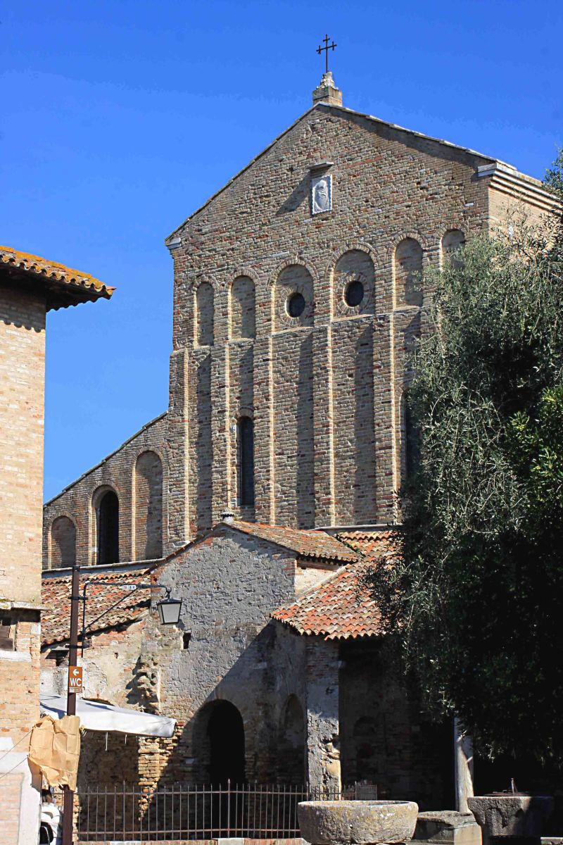 The remarkable Cathedral of Santa Maria Assunta on the Island of Torcello - the exterior is quite plain, but the interior stands out as one of the very finest examples of Byzantine decoration in the region
