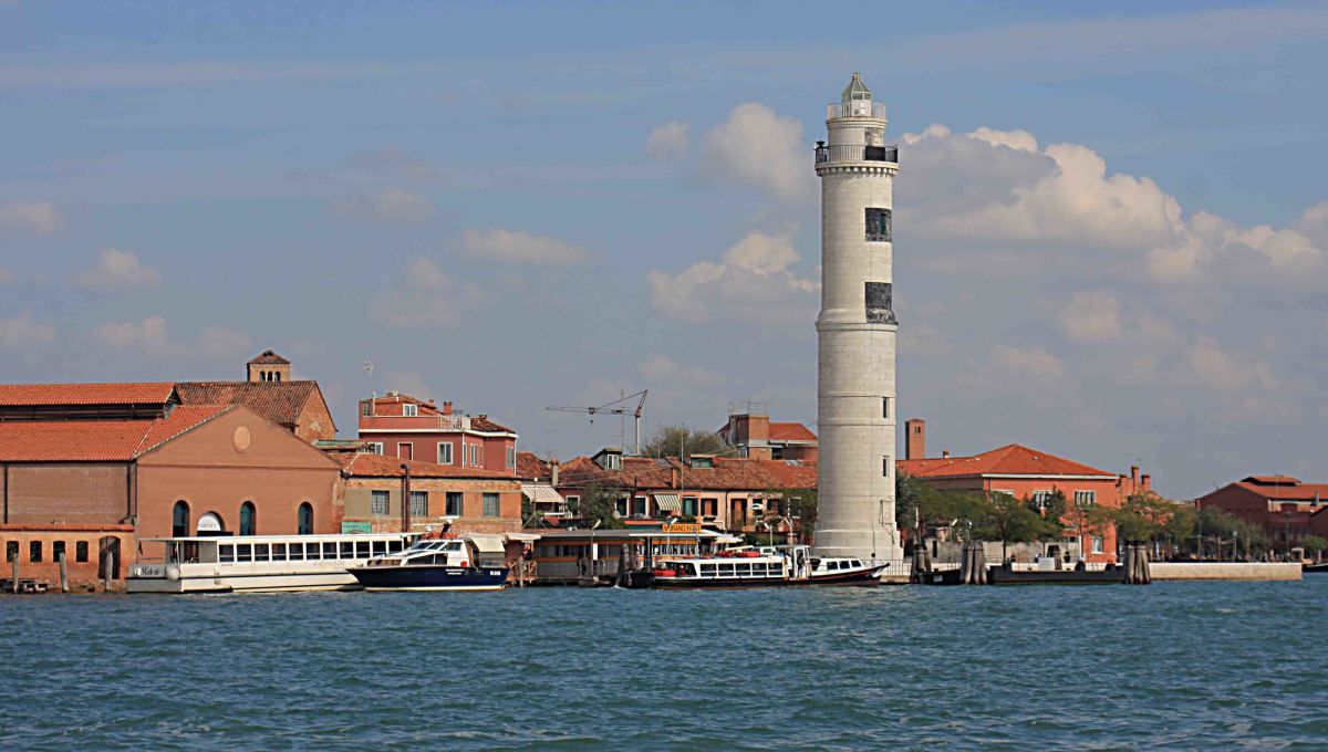 The Murano coastline featuring a 35 m (115 ft) hight lighthouse built in 1912