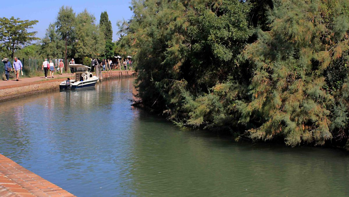 The pleasant pathway which leads one to the cathedral, church and museum of Torcello