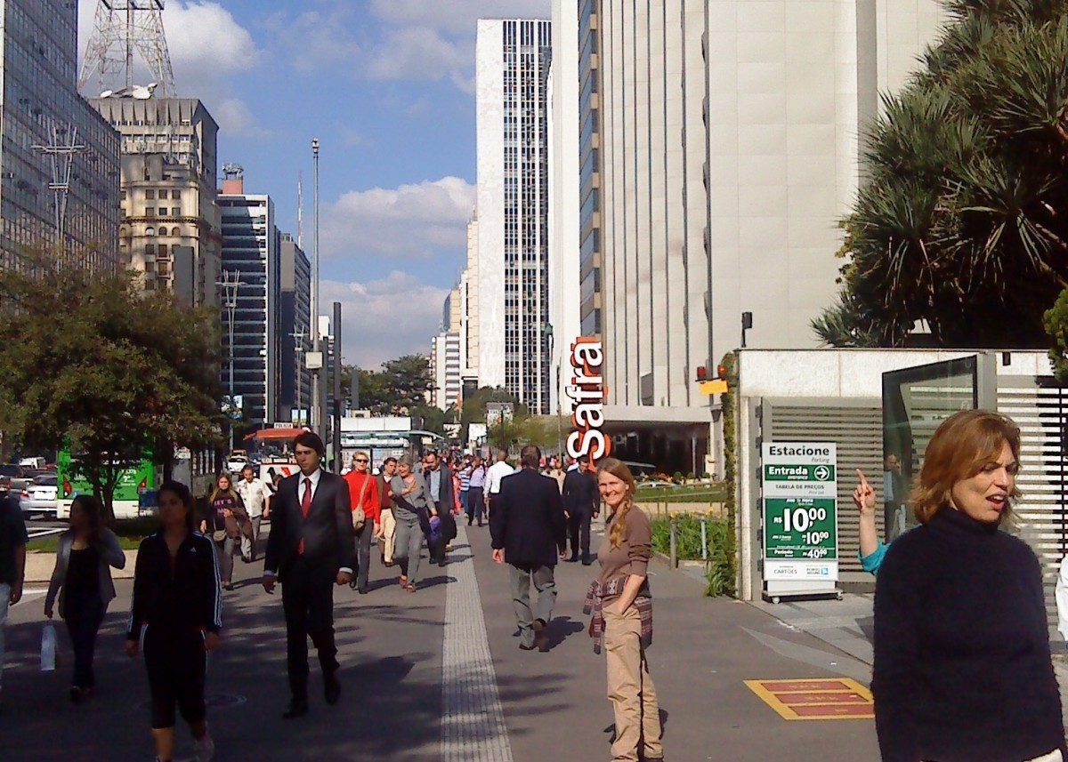 Avenida Paulista, the main street of Sao Paulo.