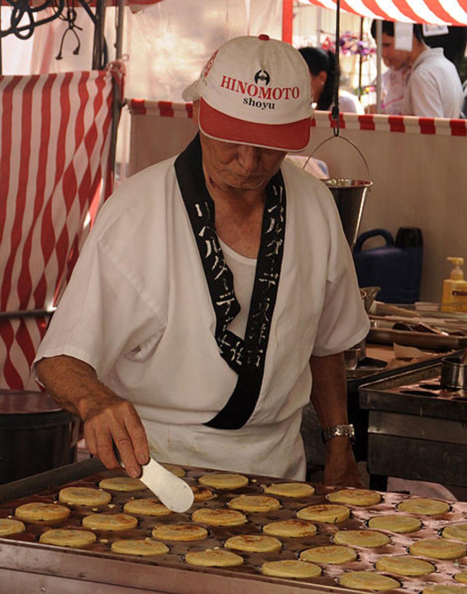 At a Japanese food fair.