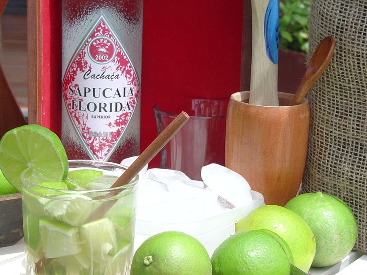 Caipirinha cocktail.