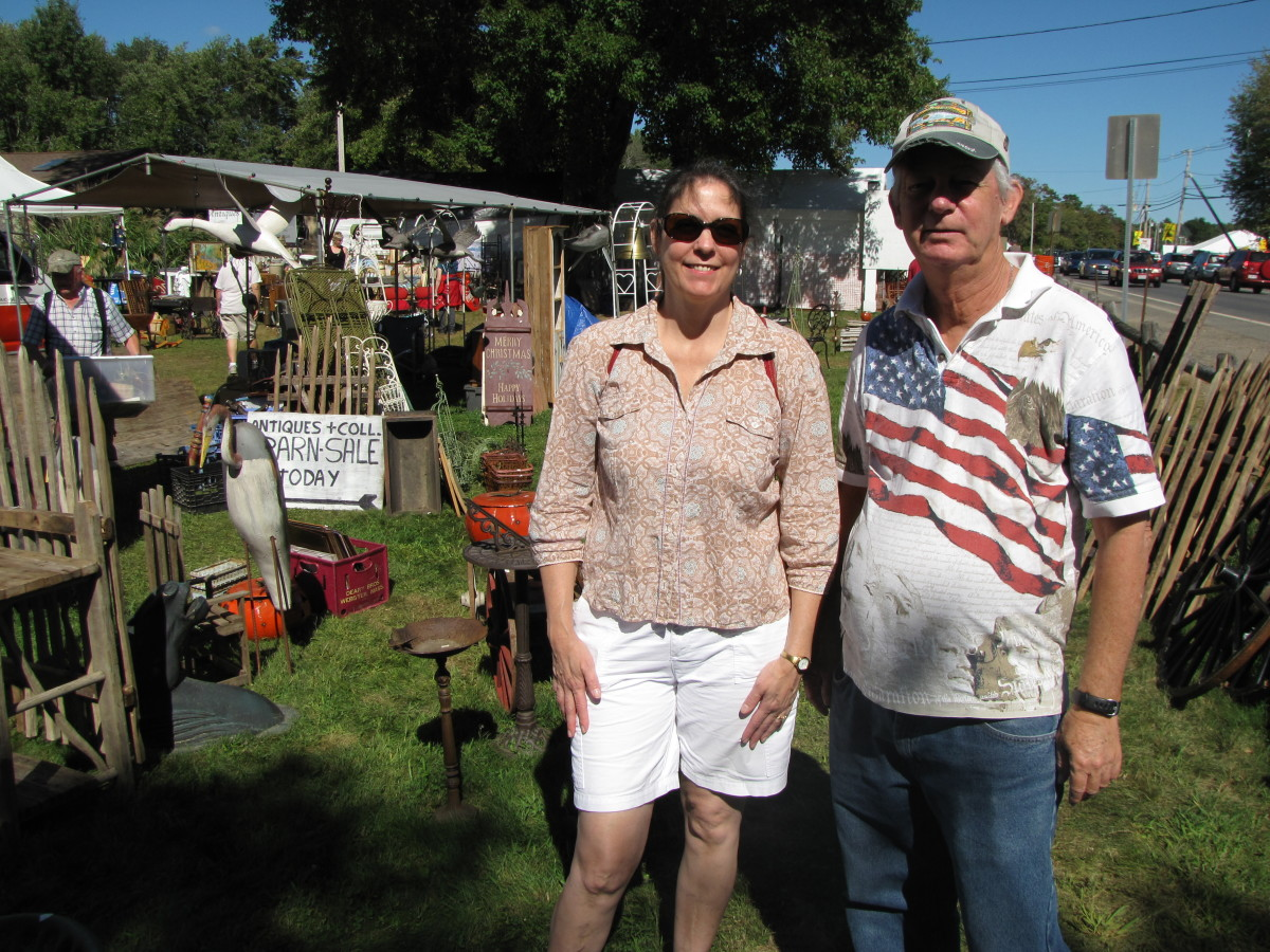 My wife Terry and brother-in-law David enjoying the Brimfield Antique Show.