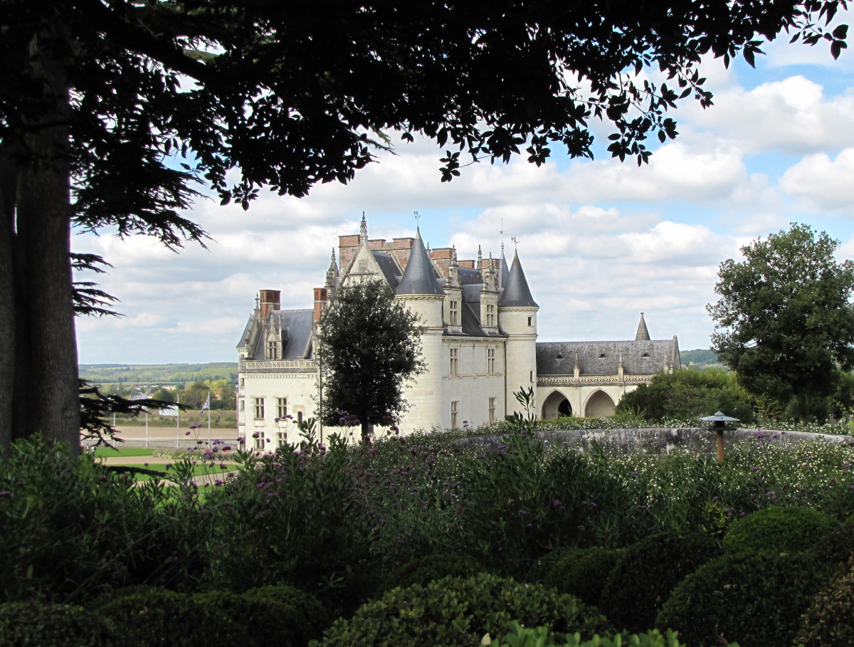 View of Chateau d'Amboise from the gardens