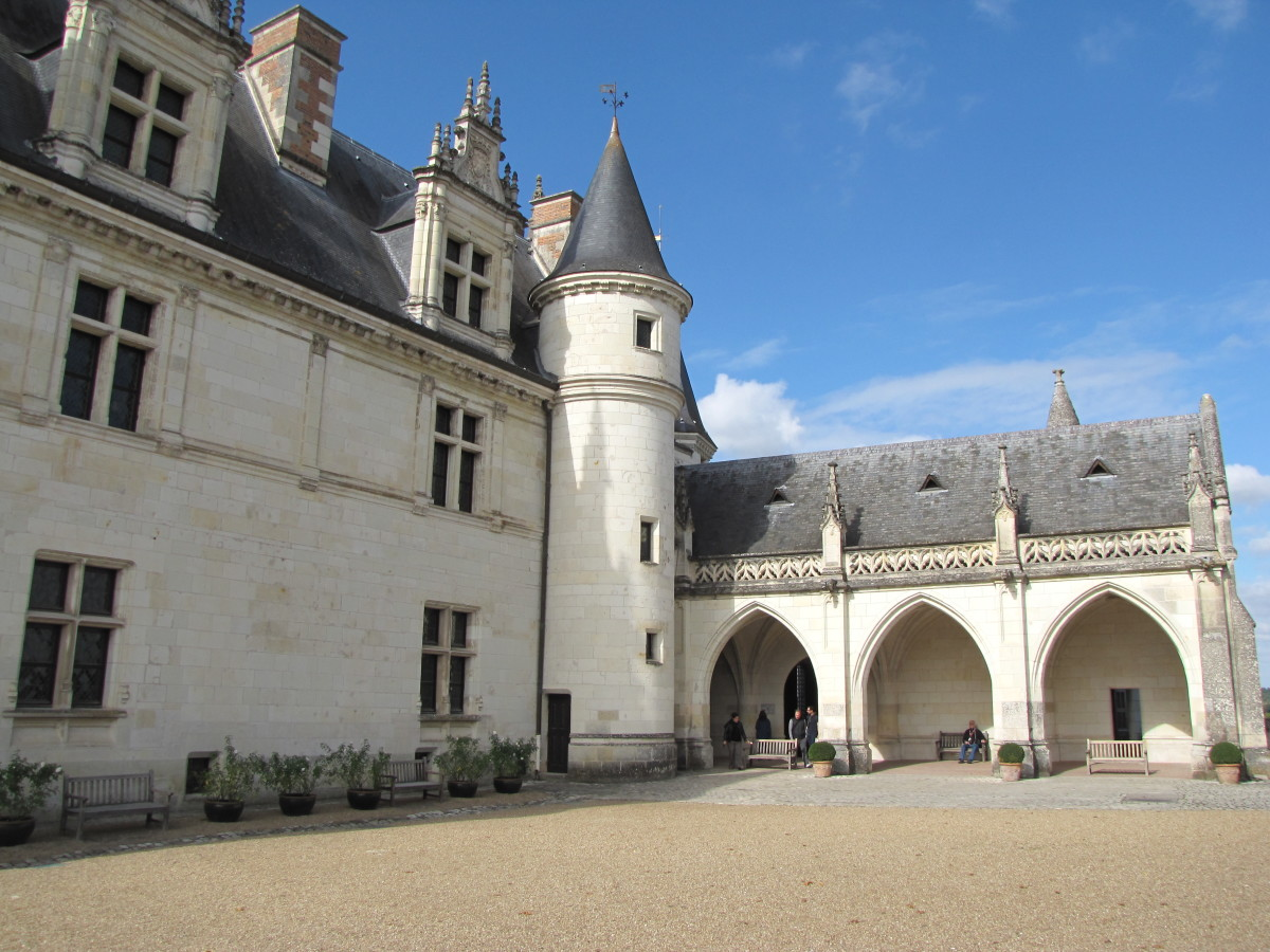 The Courtyard of Chateau d'Amboise