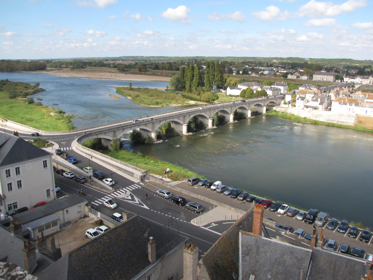 View of the River Loire from the Minimes Tower