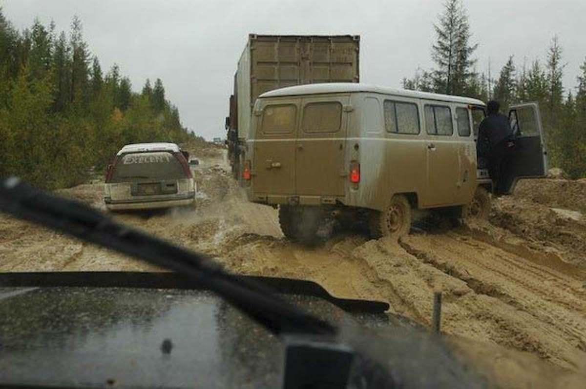 Mud on the Siberian Road to Yakutsk