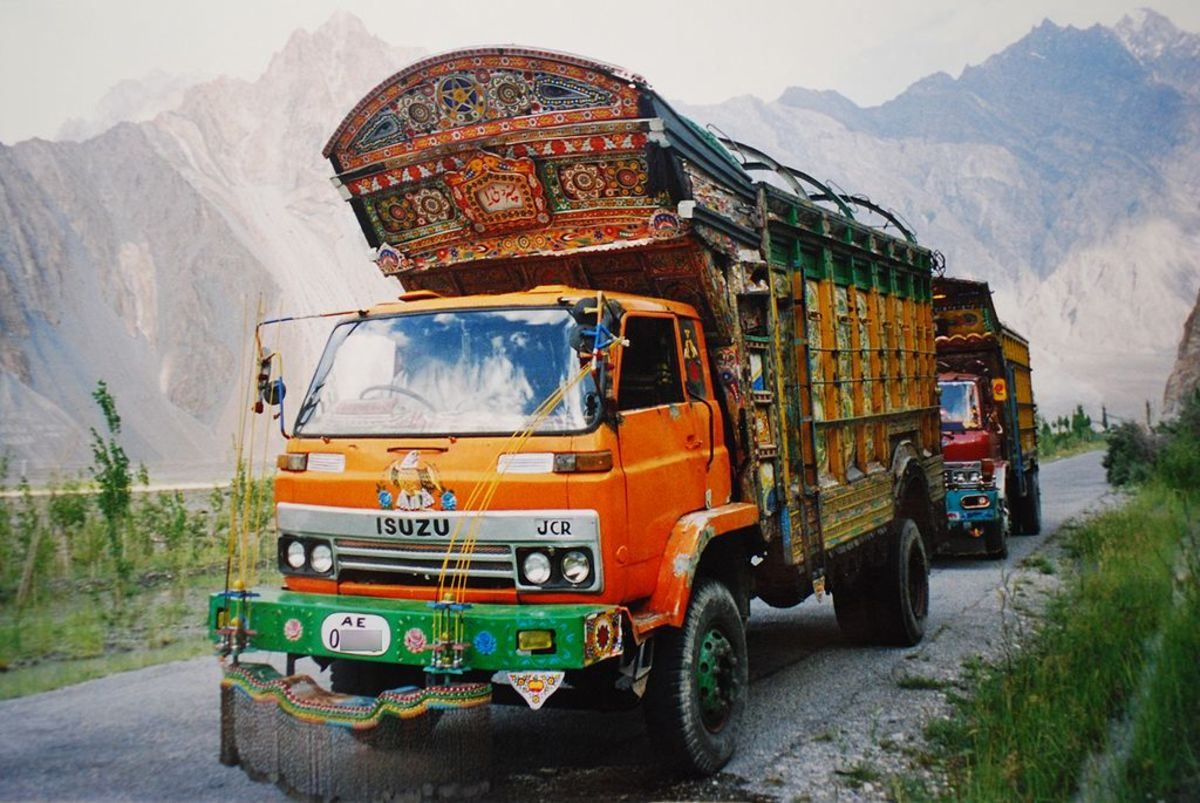Typical truck on the highway