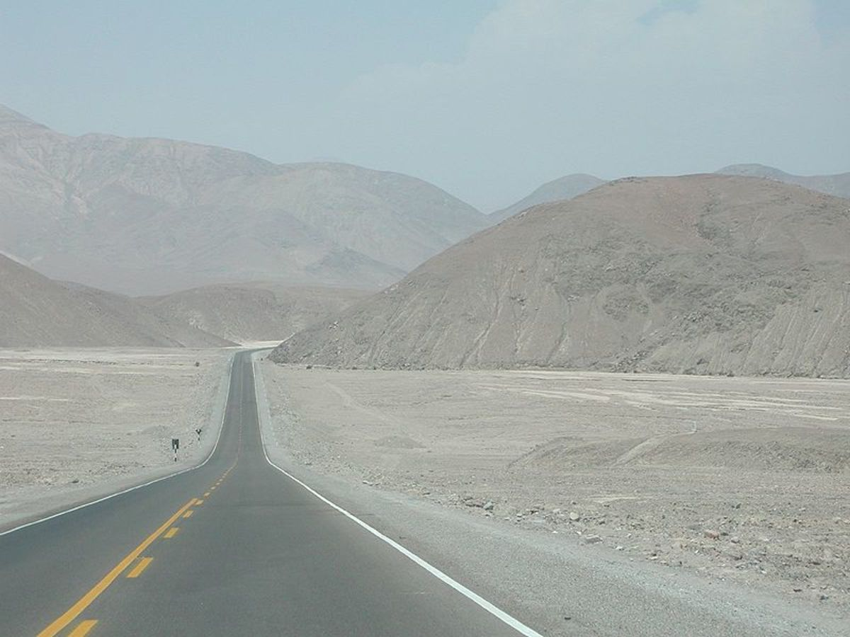 Pan American Highway in the Atacama Desert