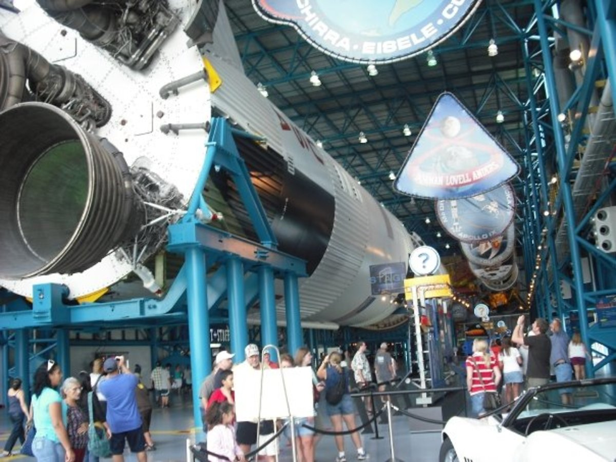 The Kennedy Space Center Visitors' Center is an enormous complex that holds some of the most exciting space-exploration artifacts imaginable.