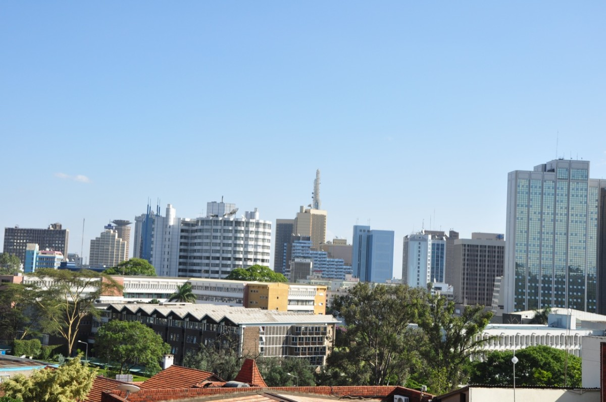 A Section of Nairobi CBD