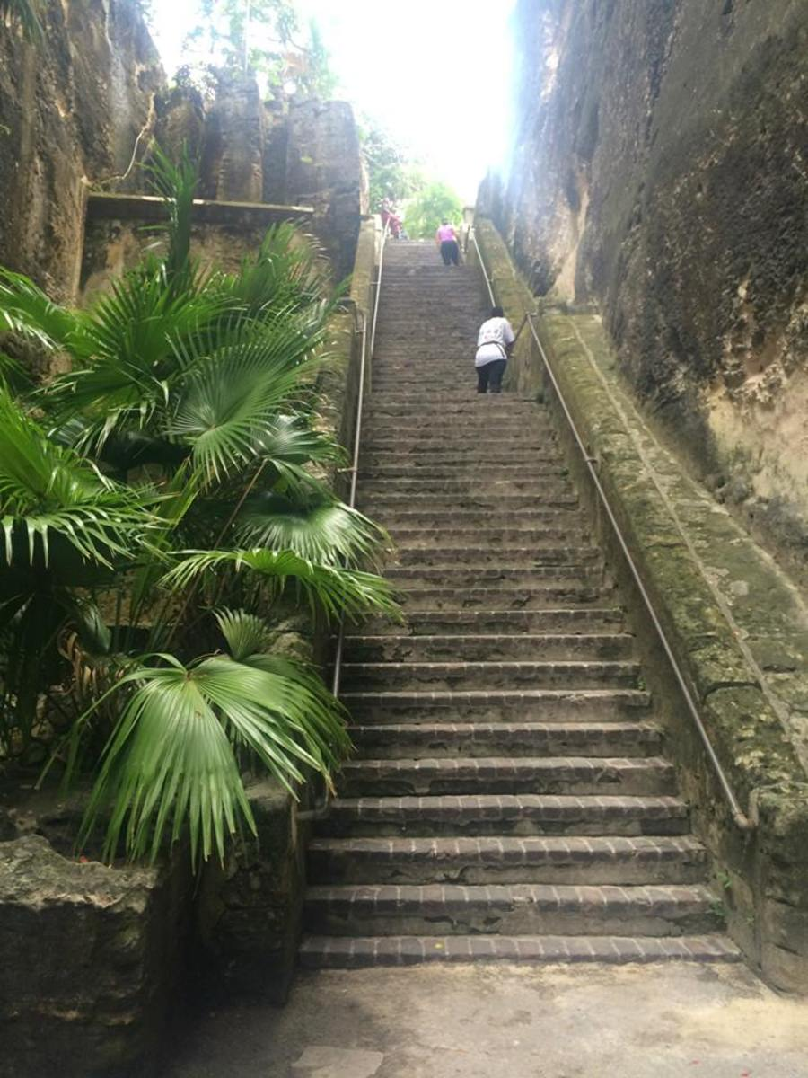 The Queen's Staircase, carved by slaves