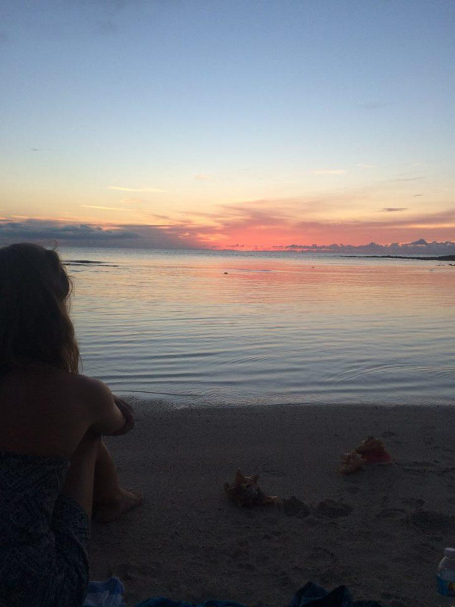 Beach-side sunset