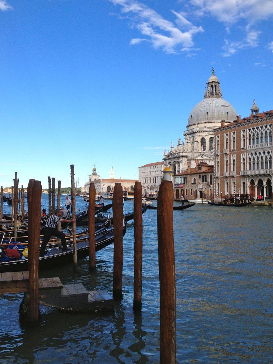 Gondolas on the Grand Canal, Venice (c) A. Harrison