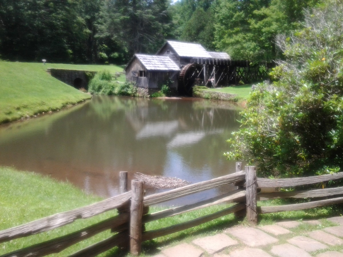 Mabry Mill, one of the most photographed locations on the roadway.