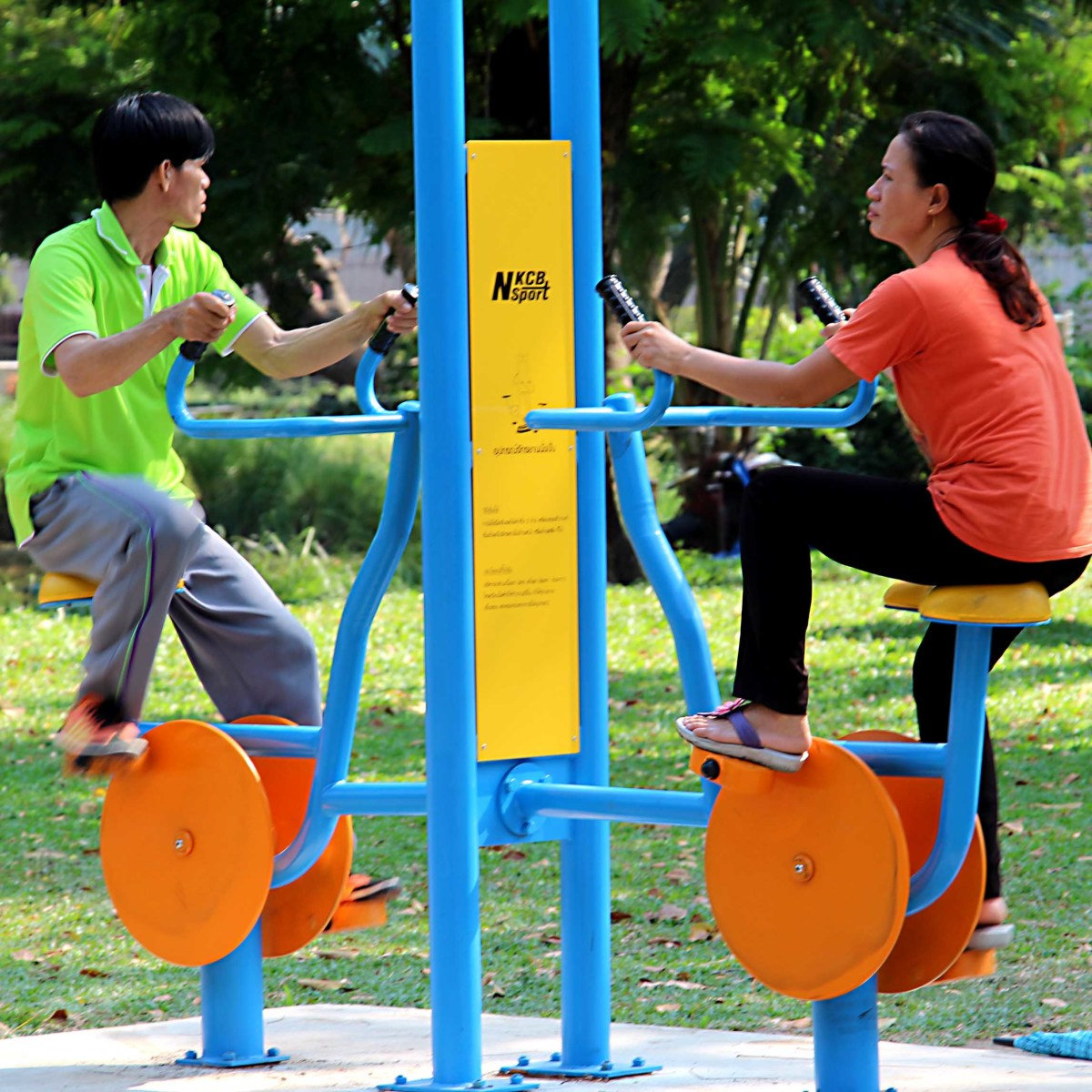 Exercising in Lumpini Park. The number of Bangkokians who choose to exercise or jog in 30C temperatures is impressive!