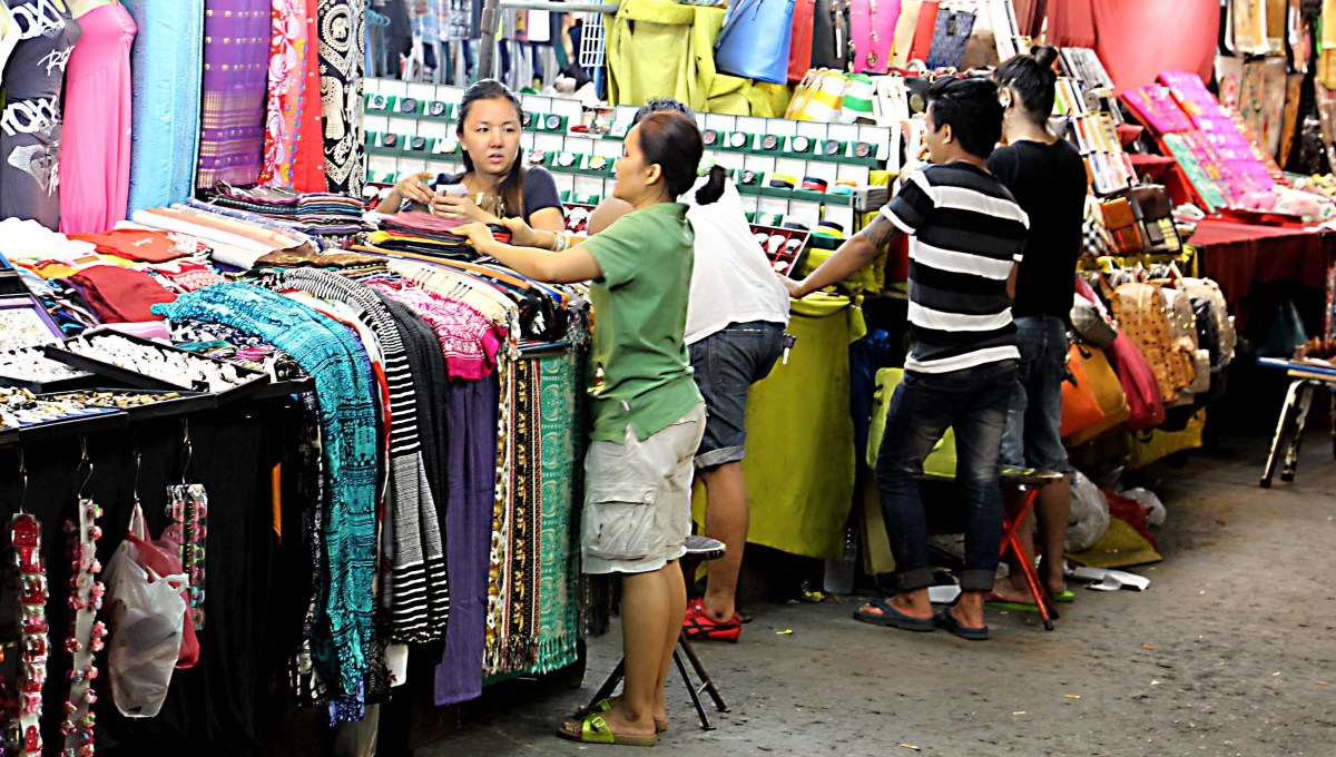 The famous Patpong Night Market - stalls do sell good quality items as well as tourist tat, and the abundance and variety of popular items such as clothing is immense